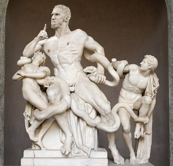 Michael Phelps Celebrate Statue