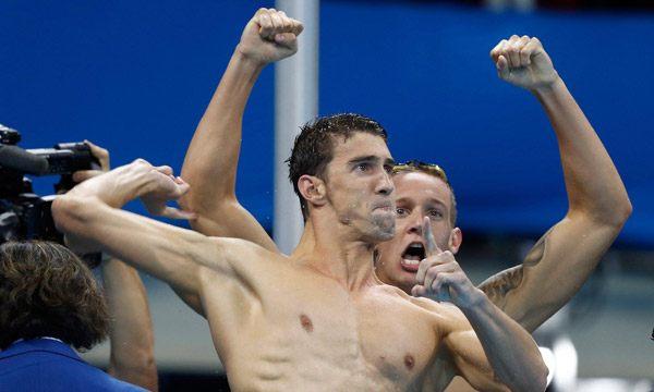 Michael Phelps Celebrate