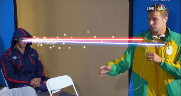 Michael Phelps Lasers