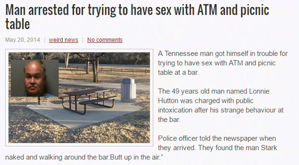 Picnic Table Sex Arrest