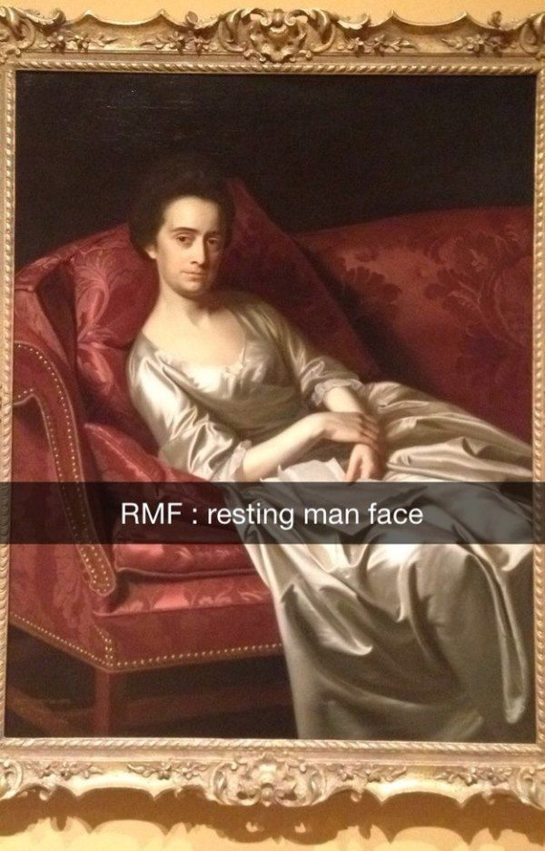 Resting Man Face