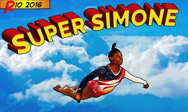 Simon Biles Superman Photoshop