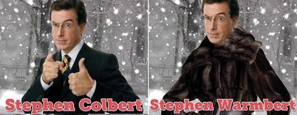 Stephen Colbert Celebrity Name Puns