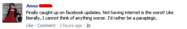 Facebook Internet Problems