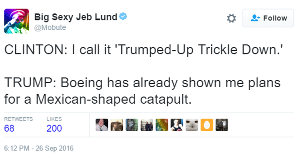 Hillary Trump Debate Catapult