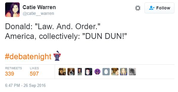 Hillary Trump Debate Dun Dun