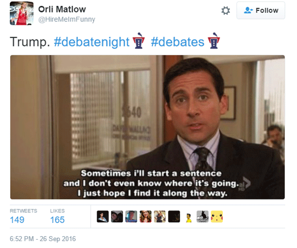 Hillary Trump Debate Michael Scott