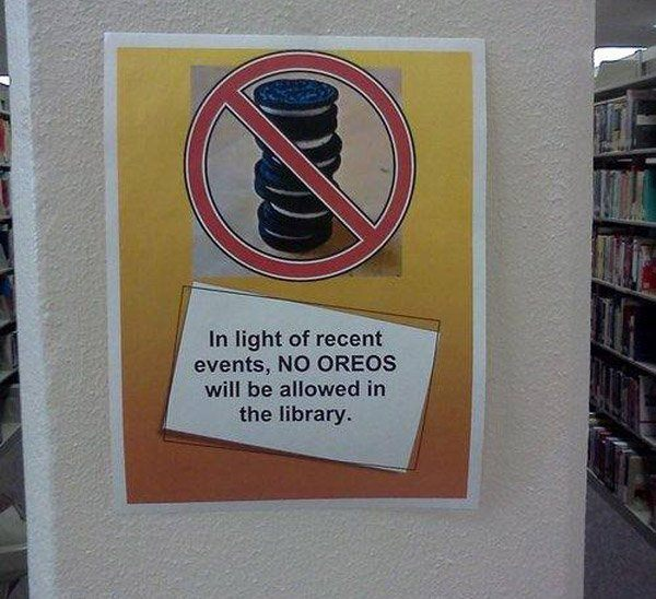 No Oreos Library