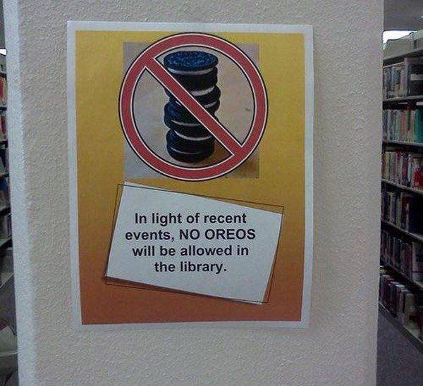 No Oreos Library