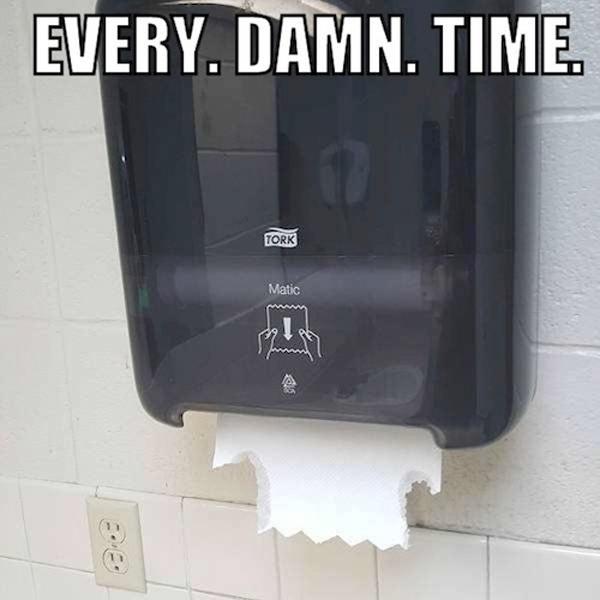 Paper Towel Dispenser Every Damn Time