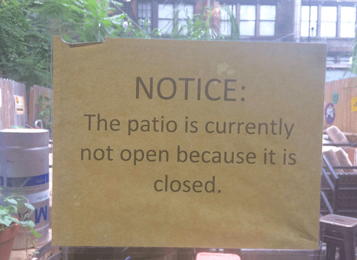 Patio Closed