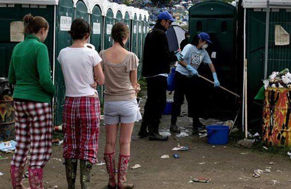 Portolet Cleaner Terrible Jobs