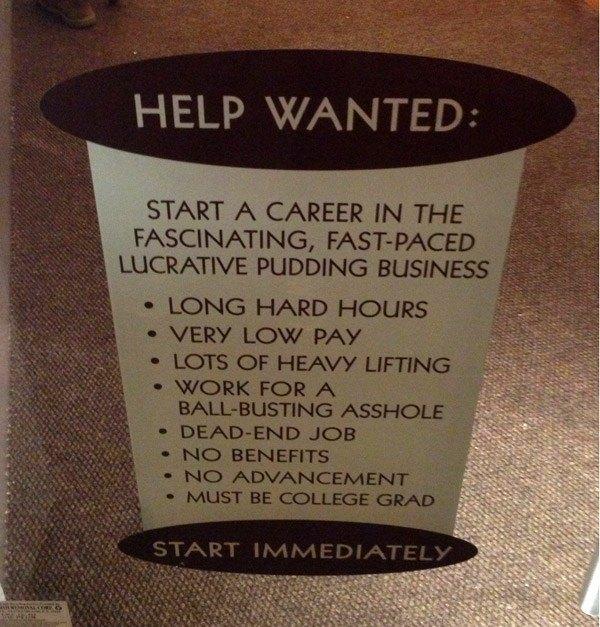 Pudding Job Ad