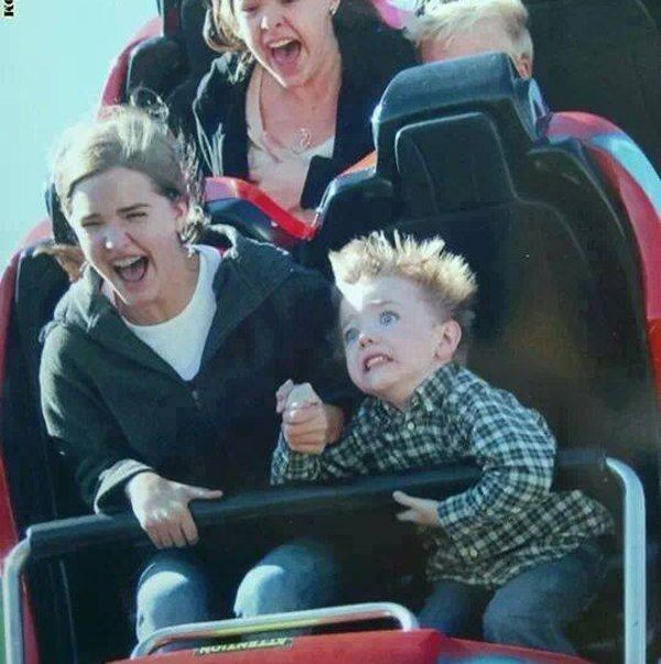 Scared Kid Rollercoaster