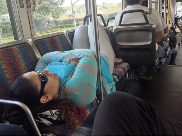 Sleeping Bus Girl