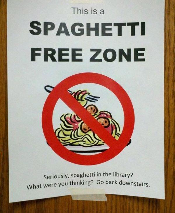 Spagehetti Free Zone