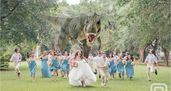 T Rex Wedding
