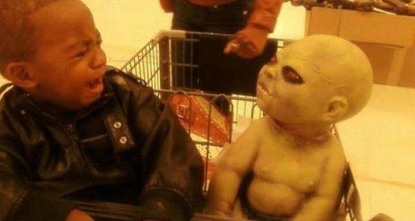 Terrified Children Grocery Store