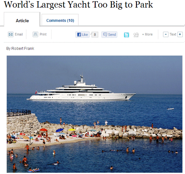 Yacht Is Too Big
