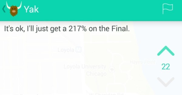 217 Percent Funniest Yik Yaks Ever