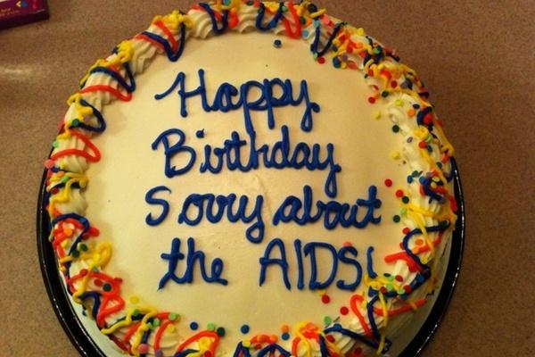 Aids Apology Cake