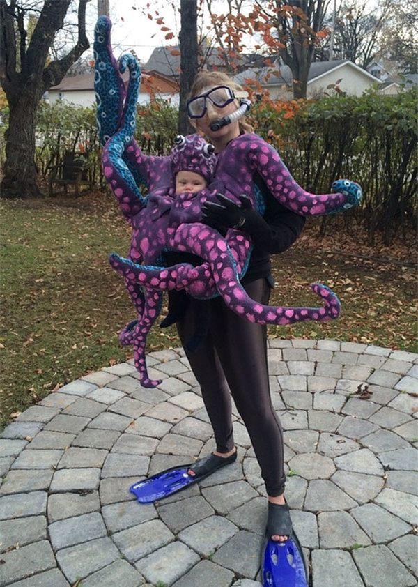 Baby Octopus Diver Mom