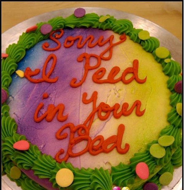 Bed Pee Apology