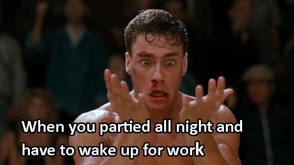 Bloodsport Wakingup Late