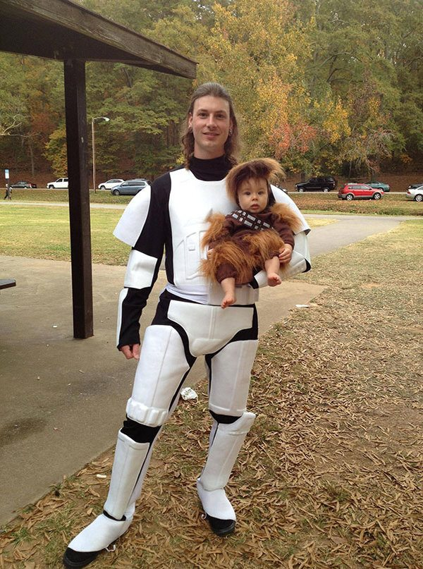Chewbecca And Stormtooper Star Wars