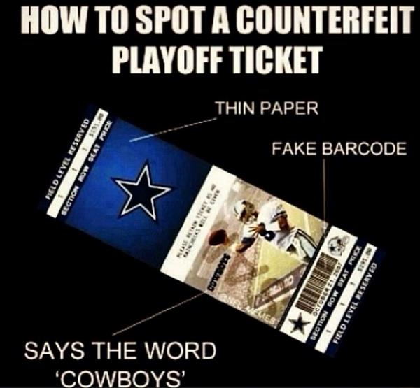 Counterfeit Playoff Ticket Football Memes
