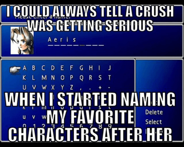 Hilarious Video Game Memes Crush Name