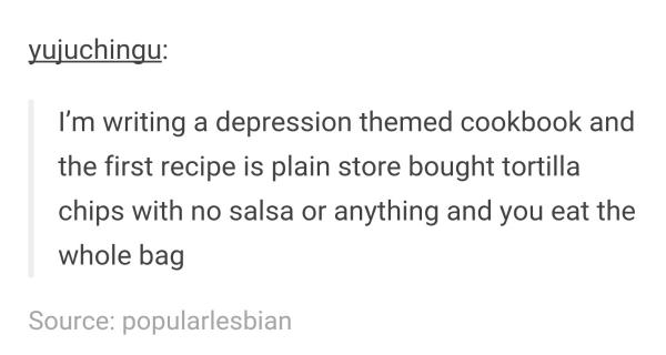 Depression Cookbook 2meirl4meirl