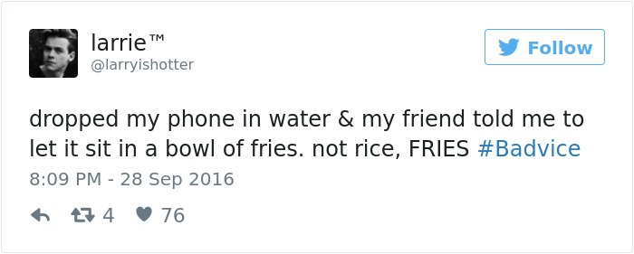 Funny Advice On Drying Wet Phone