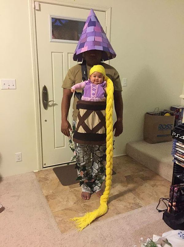 Funny Baby Rapunzel In Tower