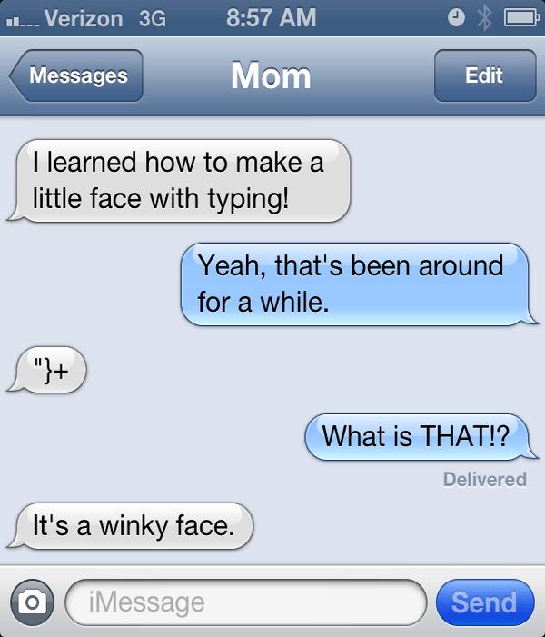 Funny Mom Emoticon