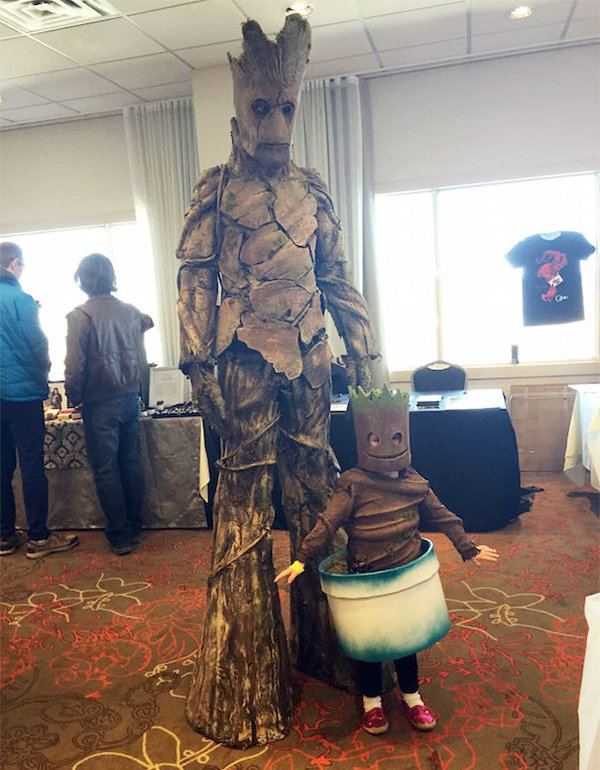 Groot With Baby Groot Halloween Costume