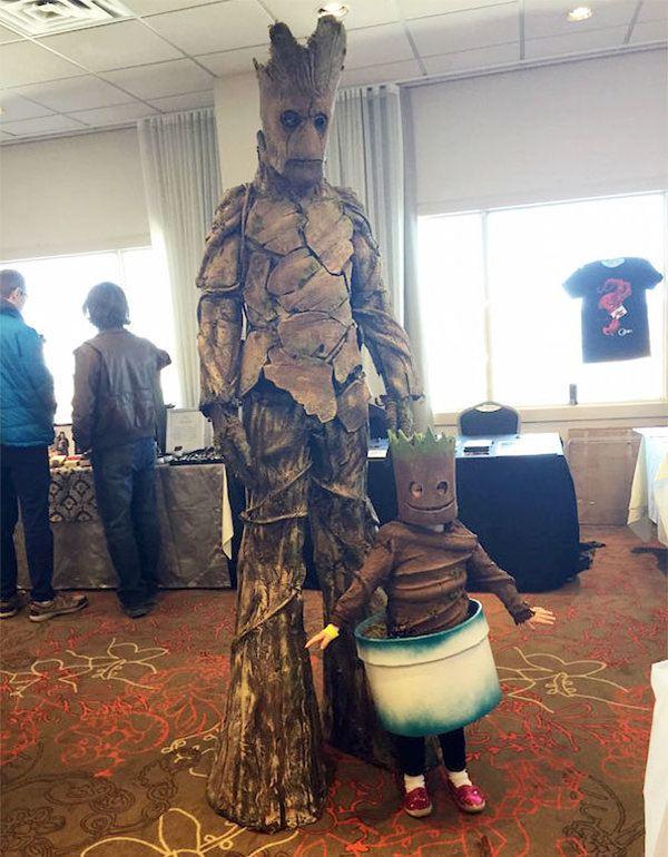Groot With Baby Groot Halloween Costume