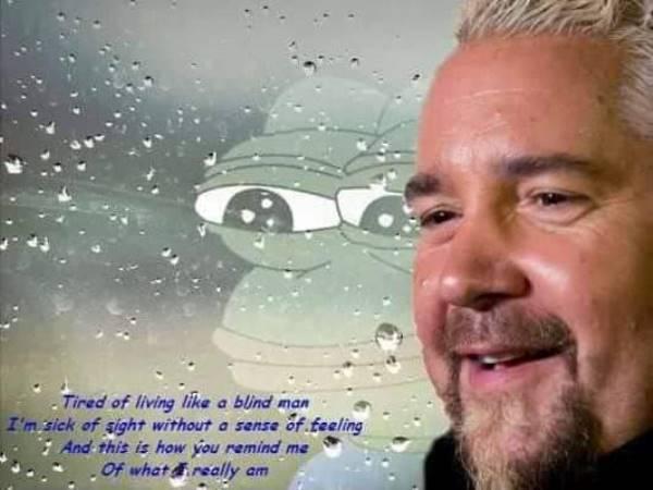 Guy Fieri Memes Sad Frog