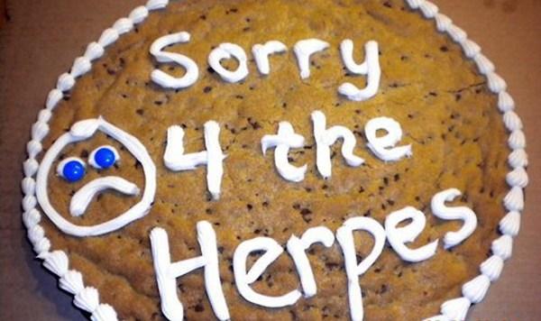 Herpes Cookie Cake