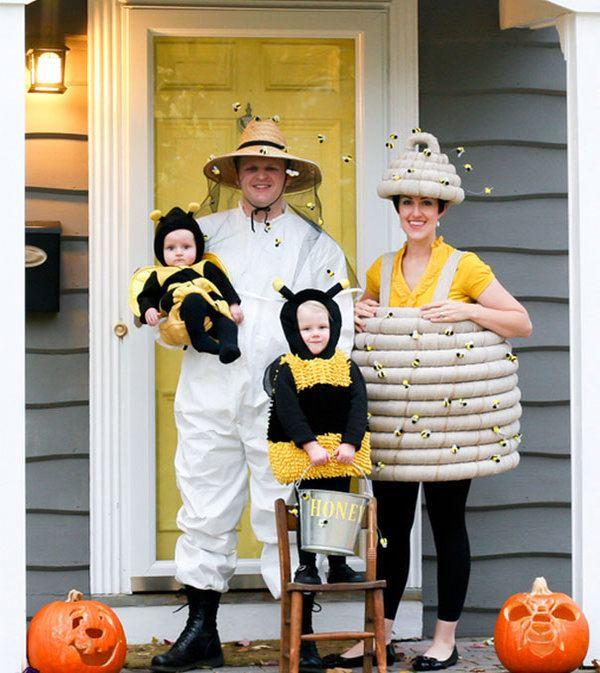 Honeybees Beekeeper And Hives