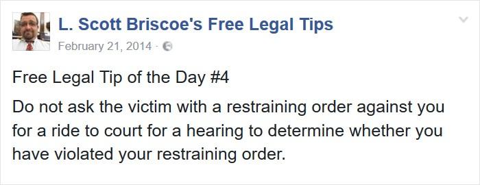 Keep Restraining Order In Mind