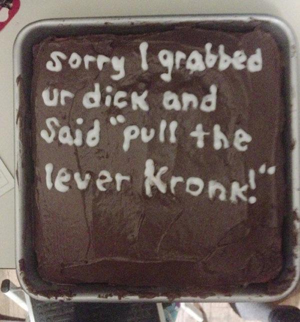 Kronk Apology Cake