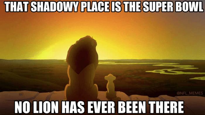 Lions Superbowl Meme