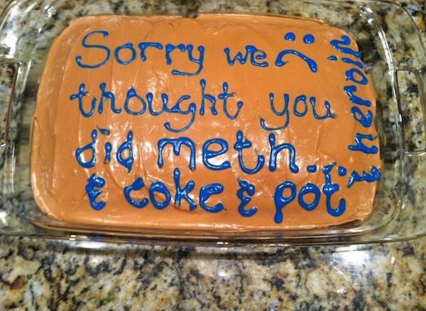 Meth Coke Pot Cake