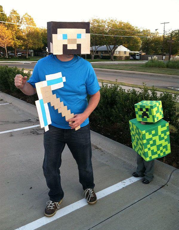 Minecraft Miner And Creeper