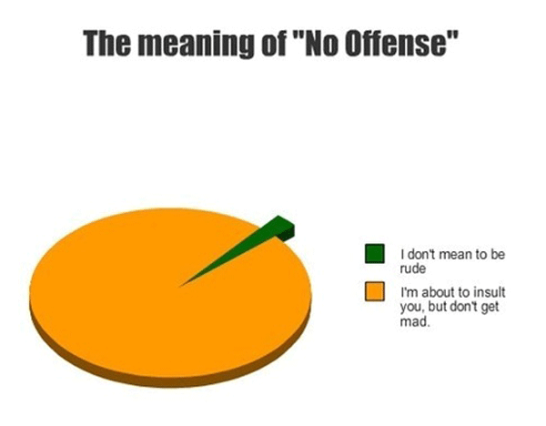 No Offense Meaning