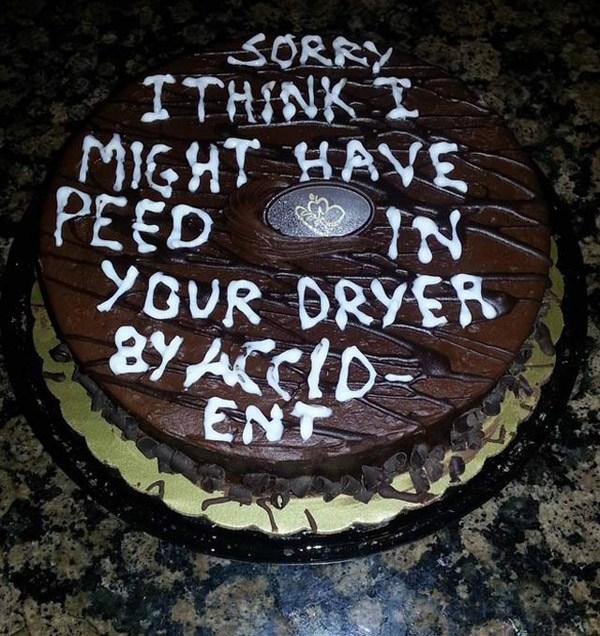 Peed In Dryer Cake