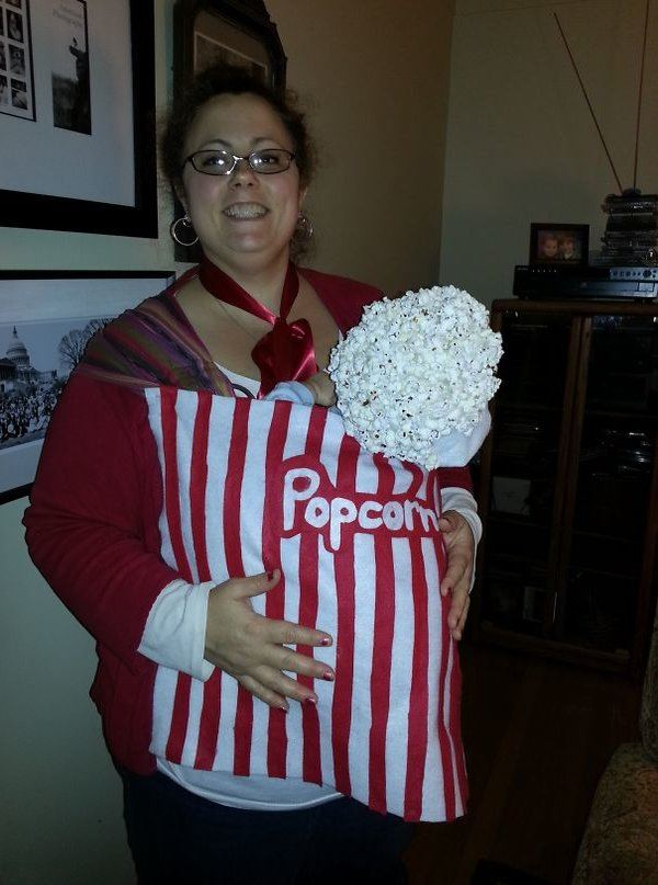 Popcorn Vendor Mom Selling Baby Popcorns