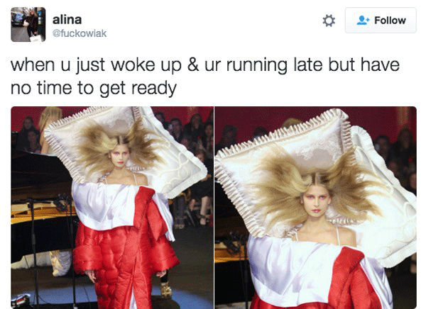 Runway Model Waking Up Late