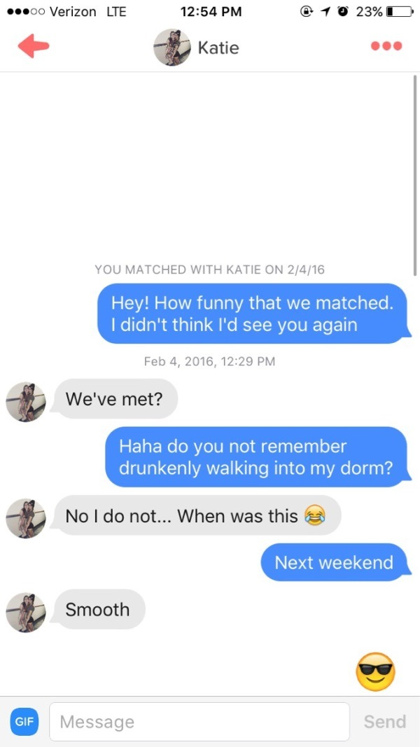 Smooth Tinder Lines
